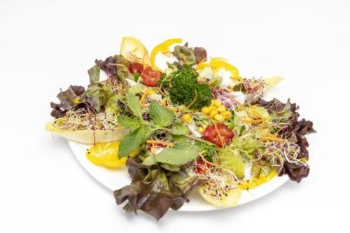 Salatteller mit Riesencrevetten